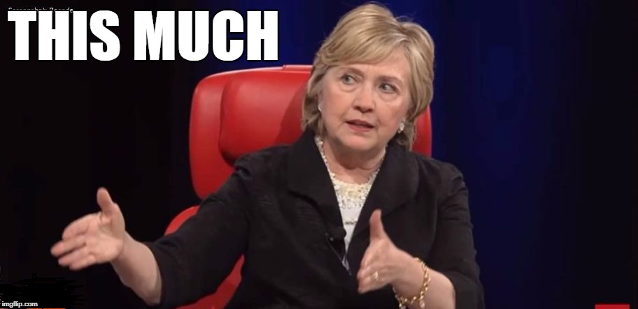 Conspiracy Hillary | THIS MUCH | image tagged in conspiracy hillary | made w/ Imgflip meme maker