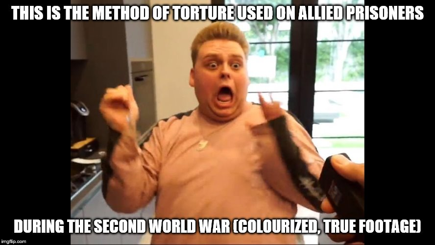 THIS IS THE METHOD OF TORTURE USED ON ALLIED PRISONERS DURING THE SECOND WORLD WAR (COLOURIZED, TRUE FOOTAGE) | made w/ Imgflip meme maker