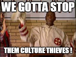 WE GOTTA STOP THEM CULTURE THIEVES ! | made w/ Imgflip meme maker