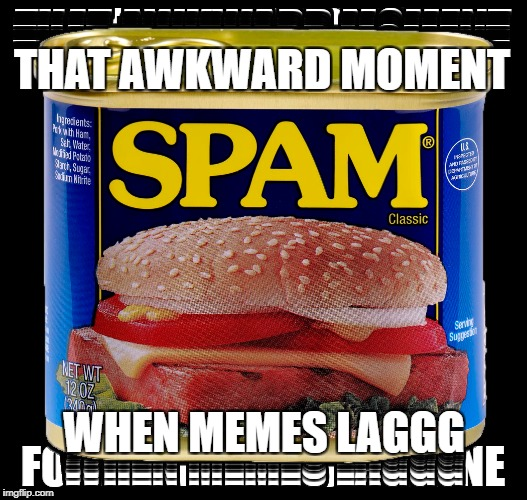 Actual Spam: Drunk Imgflip | THAT AWKWARD MOMENT WHEN MEMES LAGGG | image tagged in memes,fail,spam,food,drunk,dank memes | made w/ Imgflip meme maker