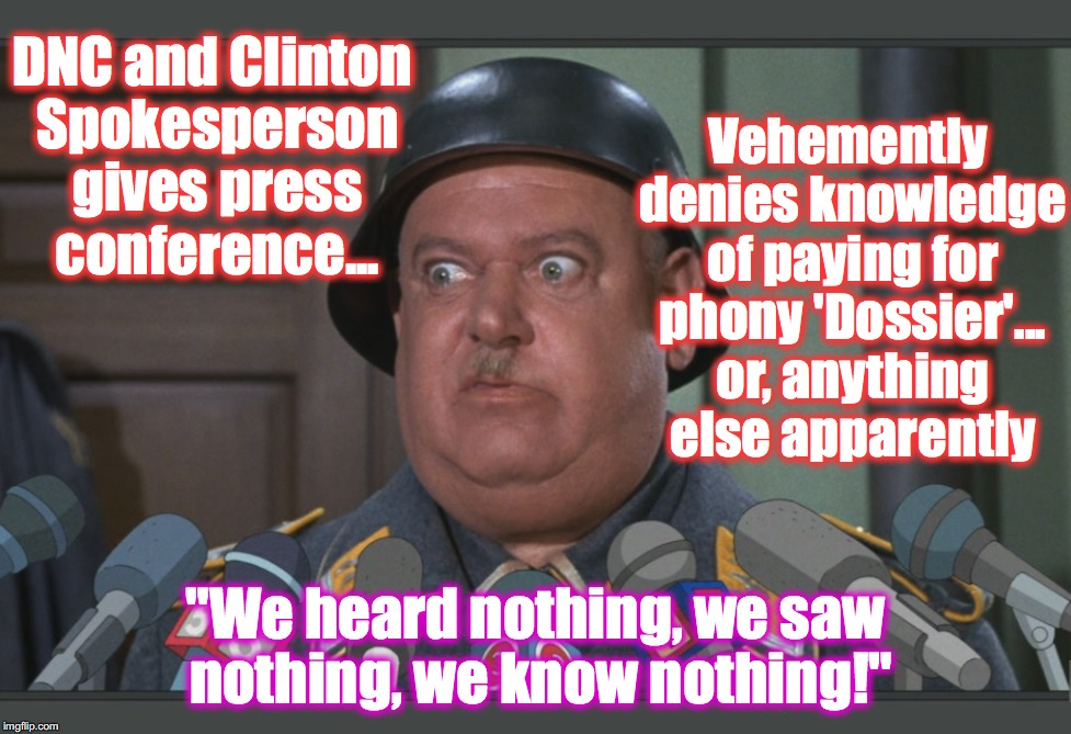 "well, on the other hand... if you don't know what's going on in the party you run, it shows incompetence... | DNC and Clinton Spokesperson gives press conference... ""We heard nothing, we saw nothing, we know nothing!"" Vehemently denies knowledge of p 