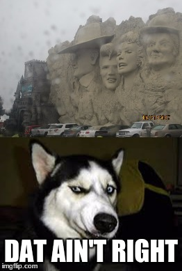 dat too wrong ha ha  | DAT AIN'T RIGHT | image tagged in branson,dog,mt rushmore,wrong,funny,meme | made w/ Imgflip meme maker