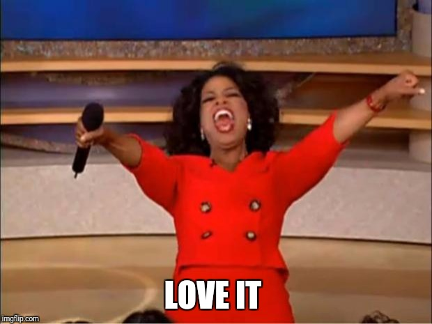 Oprah You Get A Meme | LOVE IT | image tagged in memes,oprah you get a | made w/ Imgflip meme maker