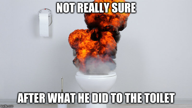 NOT REALLY SURE AFTER WHAT HE DID TO THE TOILET | made w/ Imgflip meme maker
