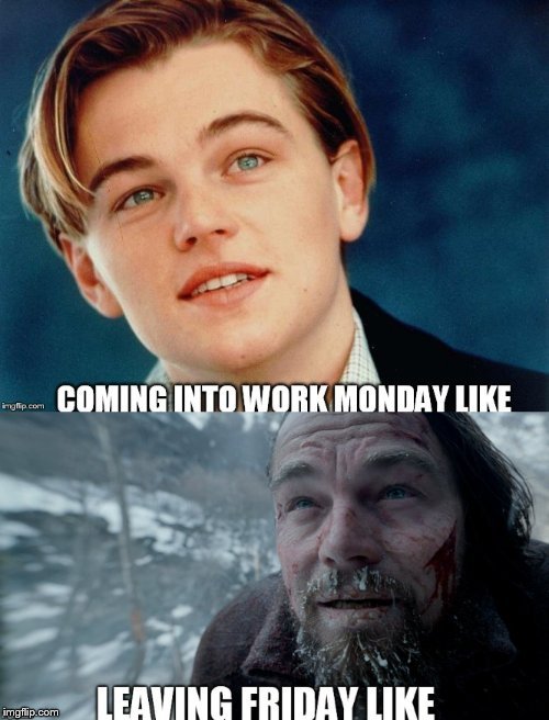 Work humor | image tagged in memes,work sucks,leonardo dicaprio,the revenant,work,i hate my job | made w/ Imgflip meme maker