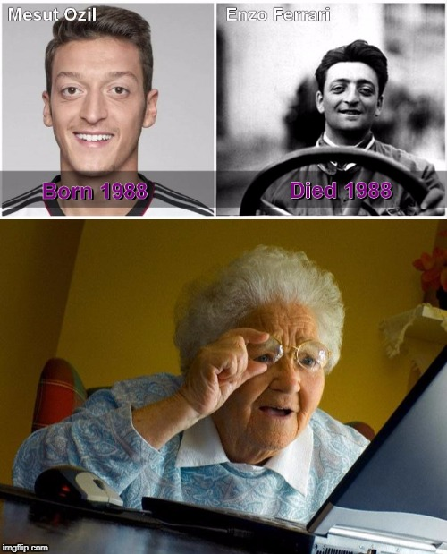 enzo ozil | image tagged in grandma finds the internet | made w/ Imgflip meme maker