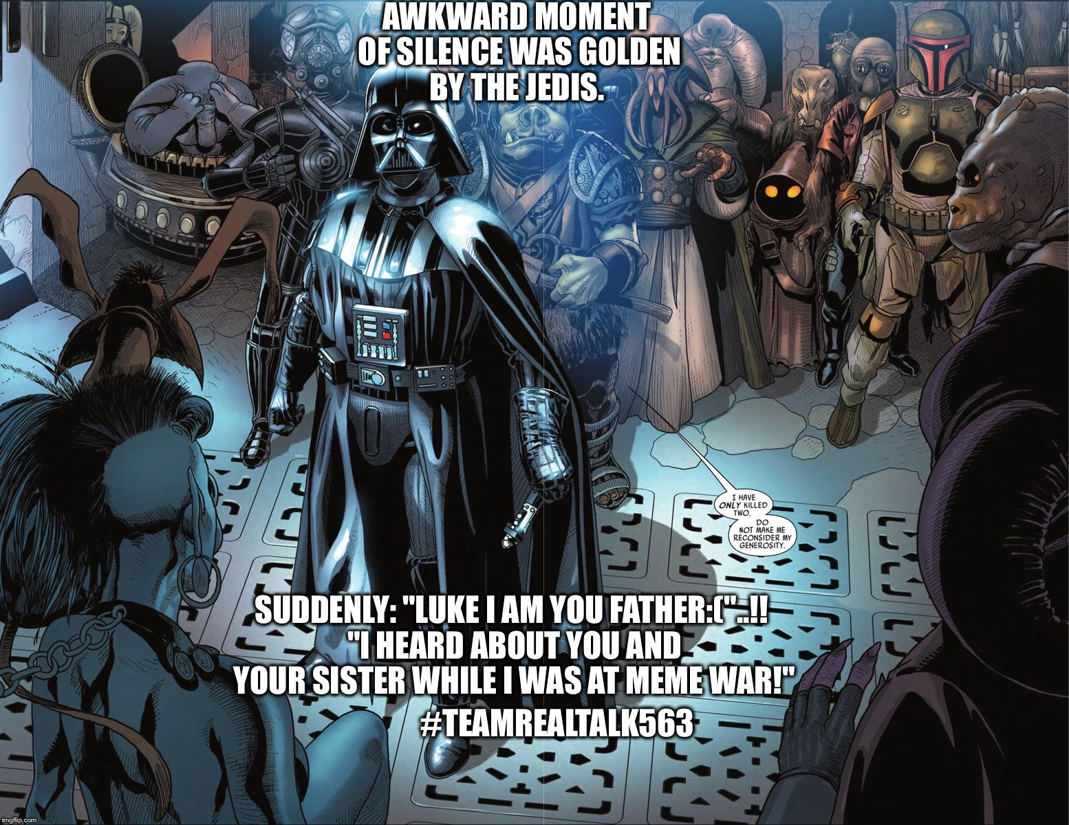 "Have ""The force Awakened!?"" Cause I see views but no galactic meme action? #bestcommentwins  