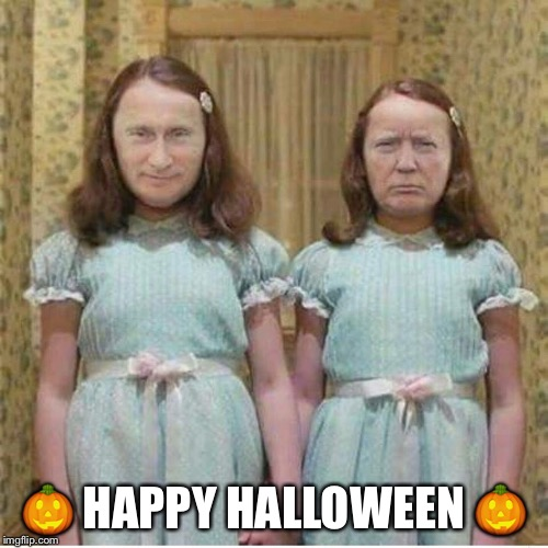Your Worst Nightmare | image tagged in happy halloween,vladimir putin,donald trump,scary | made w/ Imgflip meme maker