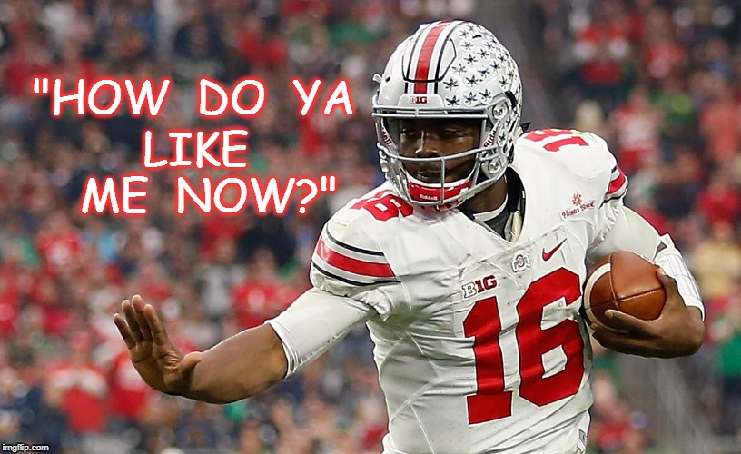 """HOW  DO  YA LIKE  ME  NOW?"" 