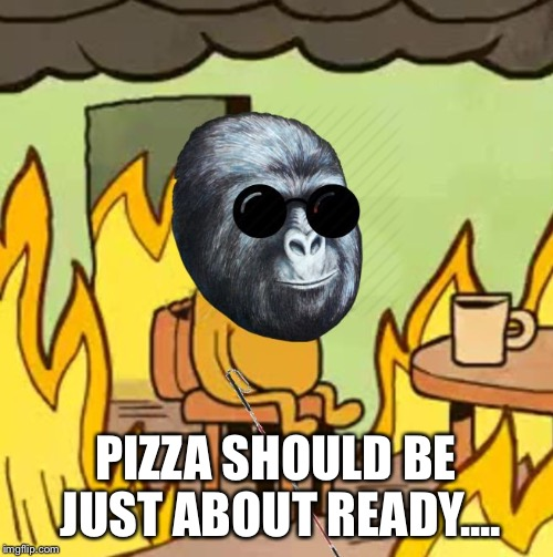 Jimmies On Fire | PIZZA SHOULD BE JUST ABOUT READY.... | image tagged in jimmies on fire | made w/ Imgflip meme maker