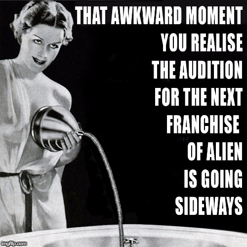 Alien | image tagged in alien,awkward moment | made w/ Imgflip meme maker