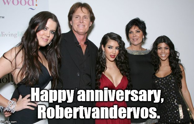 Jenner Christmas | Happy anniversary, Robertvandervos. | image tagged in jenner christmas | made w/ Imgflip meme maker