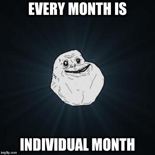 EVERY MONTH IS INDIVIDUAL MONTH | made w/ Imgflip meme maker