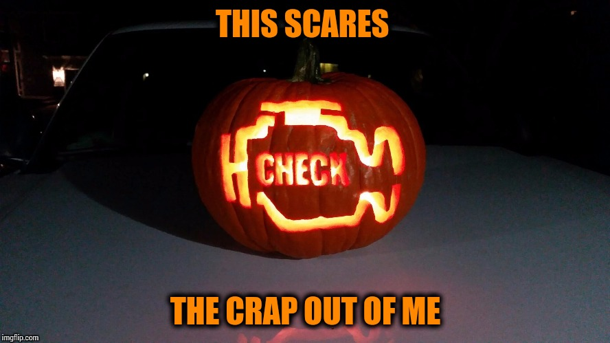 I drive 50 miles each way to work, I don't want to see this | THIS SCARES THE CRAP OUT OF ME | image tagged in halloween,pumpkin | made w/ Imgflip meme maker