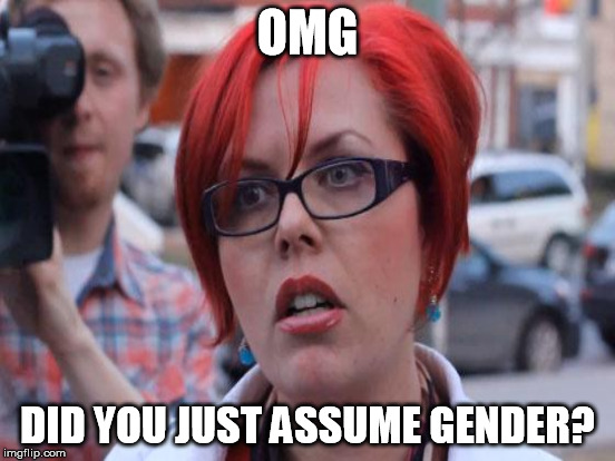 OMG DID YOU JUST ASSUME GENDER? | made w/ Imgflip meme maker