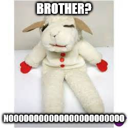 BROTHER? NOOOOOOOOOOOOOOOOOOOOOOO | made w/ Imgflip meme maker