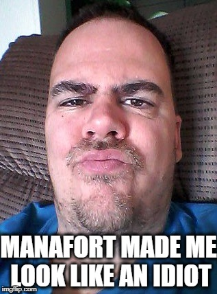 Scowl | MANAFORT MADE ME LOOK LIKE AN IDIOT | image tagged in scowl | made w/ Imgflip meme maker