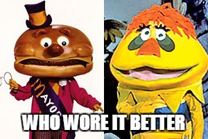 The mayor vs. HR | WHO WORE IT BETTER | image tagged in mcdonalds | made w/ Imgflip meme maker