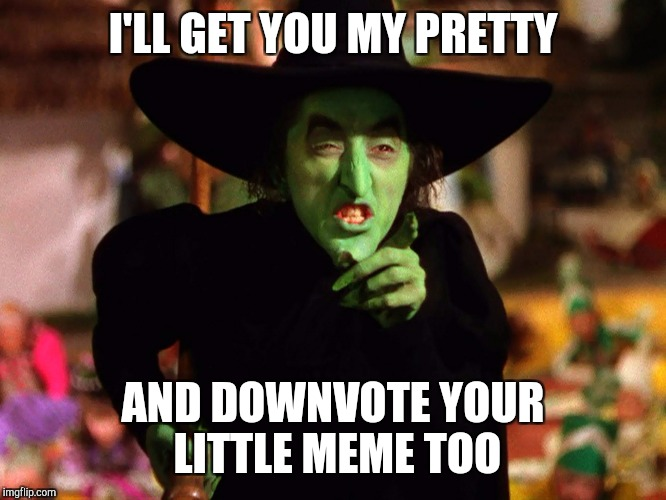 I'LL GET YOU MY PRETTY AND DOWNVOTE YOUR LITTLE MEME TOO | made w/ Imgflip meme maker