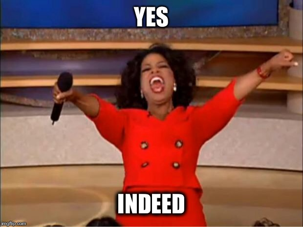 Oprah You Get A Meme | YES INDEED | image tagged in memes,oprah you get a | made w/ Imgflip meme maker