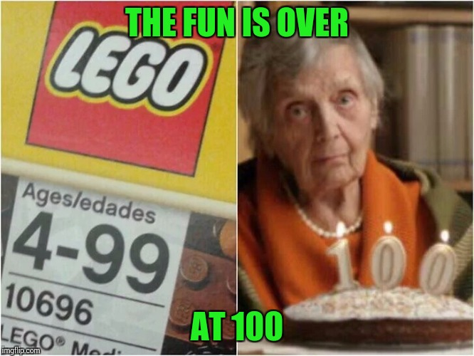 THE FUN IS OVER AT 100 | made w/ Imgflip meme maker
