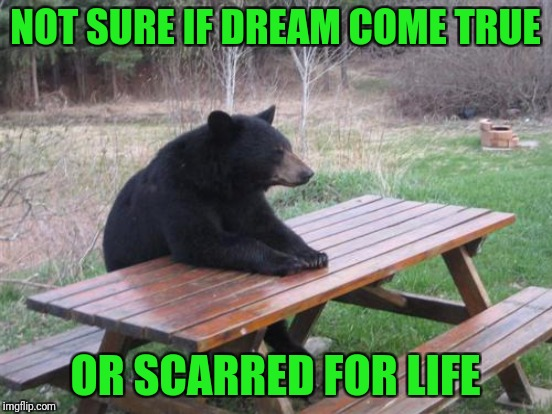 NOT SURE IF DREAM COME TRUE OR SCARRED FOR LIFE | made w/ Imgflip meme maker