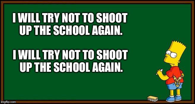 Bart Simpson - chalkboard - Imgflip