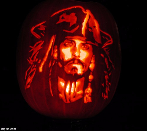 Jack Sparrow-O Lantern Art Week Oct 30 - Nov 5, A JBmemegeek & Sir_Unknown event | image tagged in memes,2spooky4me,art week oct 30 - nov 5 a jbmemegeek  sir_unknown event,raydog,jessica_ | made w/ Imgflip meme maker