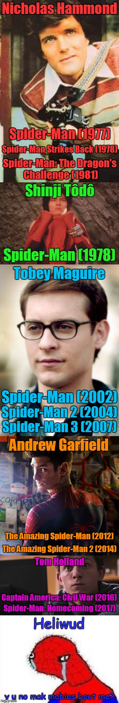 Spoderman Wants Hollywood to Make a Movie About His Life | Nicholas Hammond Spider-Man: The Dragon's Challenge (1981) Spider-Man Strikes Back (1978) Spider-Man (1977) | image tagged in memes,movies,spider-man,the amazing spider-man,spoderman,expectations vs reality | made w/ Imgflip meme maker