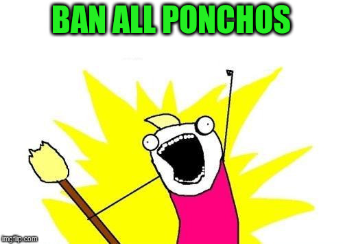 X All The Y Meme | BAN ALL PONCHOS | image tagged in memes,x all the y | made w/ Imgflip meme maker