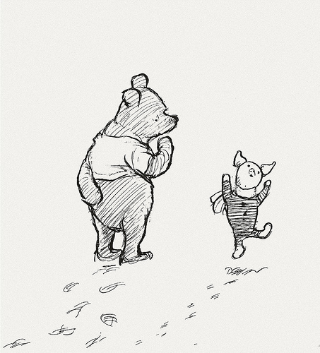 pooh and dancing piglet blank template imgflip