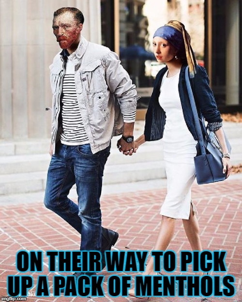 Art Week: Oct. 30-Nov. 5. A JBmemgeek and Sir_Unknown event | ON THEIR WAY TO PICK UP A PACK OF MENTHOLS | image tagged in van gogh,art week | made w/ Imgflip meme maker