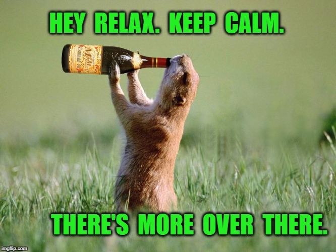 HEY  RELAX.  KEEP  CALM. THERE'S  MORE  OVER  THERE. | image tagged in thirsty | made w/ Imgflip meme maker