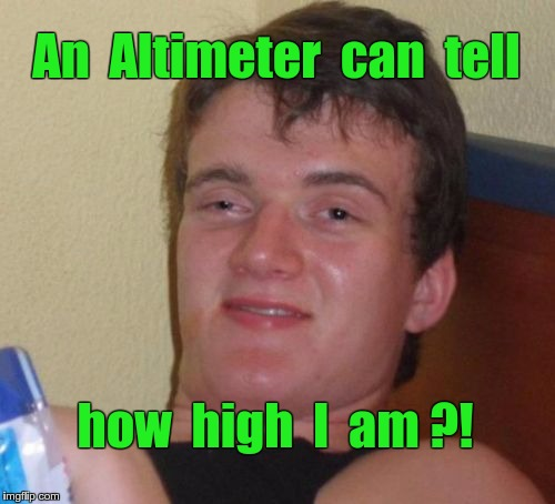10 Guy Altimeter  | An  Altimeter  can  tell how  high  I  am ?! | image tagged in memes,10 guy | made w/ Imgflip meme maker