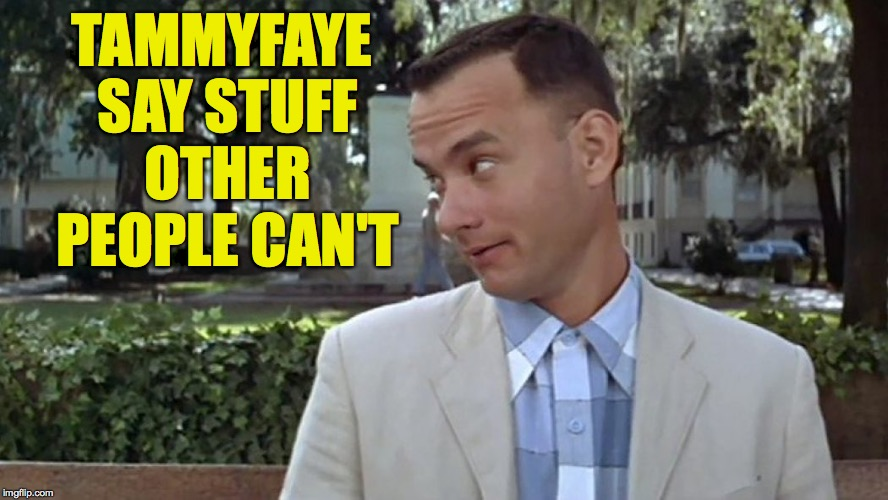 TAMMYFAYE SAY STUFF OTHER PEOPLE CAN'T | made w/ Imgflip meme maker
