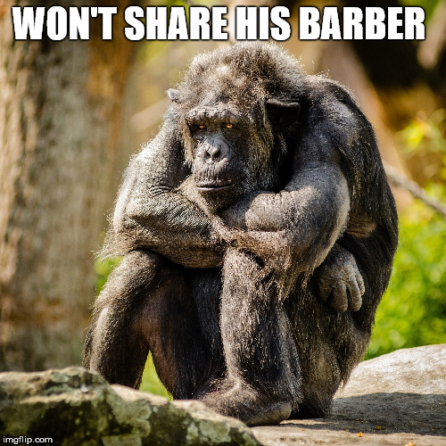 WON'T SHARE HIS BARBER | made w/ Imgflip meme maker