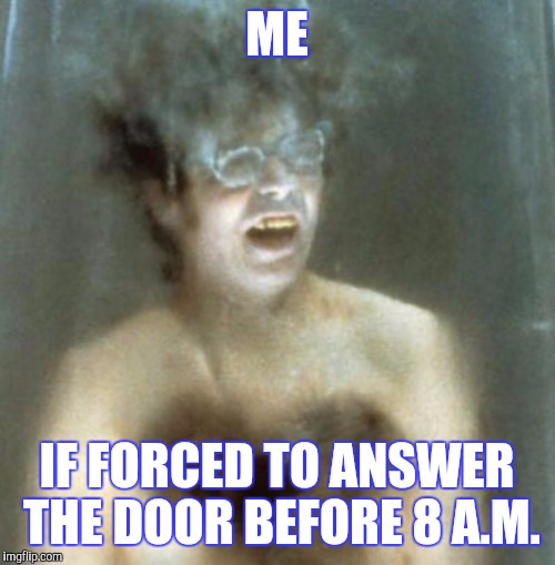 I was sleeping like a baby..........baby | ME IF FORCED TO ANSWER THE DOOR BEFORE 8 A.M. | image tagged in austin powers,sleeping,funny | made w/ Imgflip meme maker