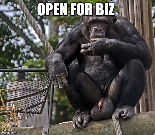 OPEN FOR BIZ | made w/ Imgflip meme maker