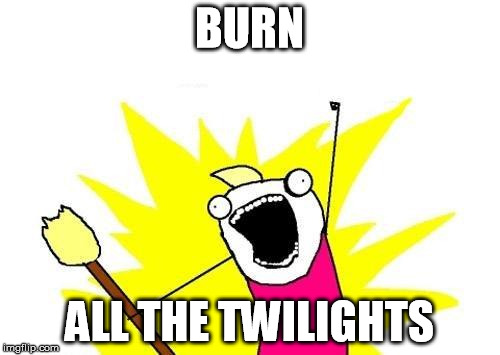X All The Y Meme | BURN ALL THE TWILIGHTS | image tagged in memes,x all the y | made w/ Imgflip meme maker
