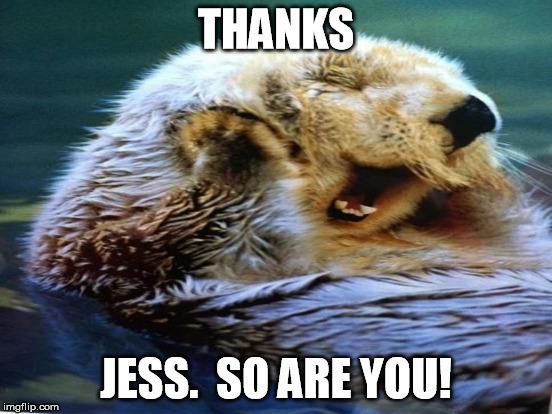 THANKS JESS.  SO ARE YOU! | made w/ Imgflip meme maker