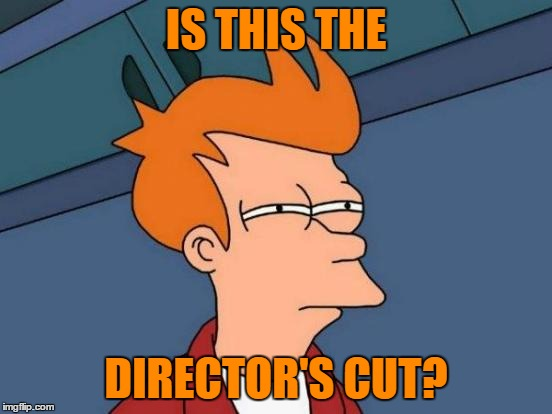 Futurama Fry Meme | IS THIS THE DIRECTOR'S CUT? | image tagged in memes,futurama fry | made w/ Imgflip meme maker