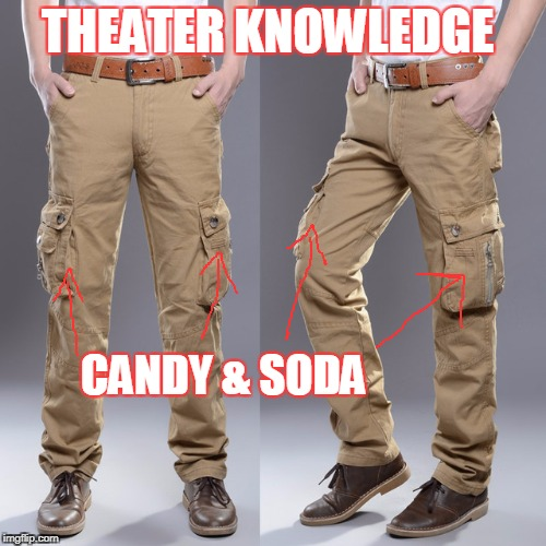 THEATER KNOWLEDGE CANDY & SODA | made w/ Imgflip meme maker