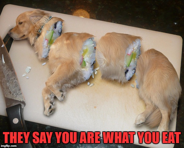 THEY SAY YOU ARE WHAT YOU EAT | made w/ Imgflip meme maker