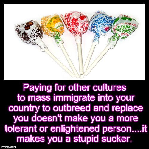 Paying for other cultures to mass immigrate into your country to outbreed and replace you doesn't make you a more tolerant or enlightened pe | image tagged in illegal immigration | made w/ Imgflip meme maker