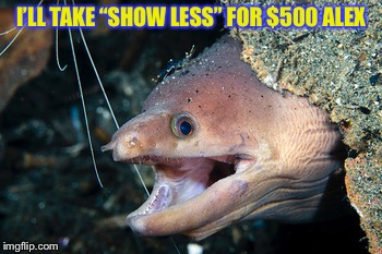"I'LL TAKE ""SHOW LESS"" FOR $500 ALEX 