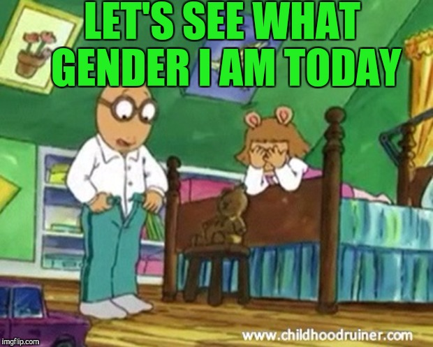 LET'S SEE WHAT GENDER I AM TODAY | made w/ Imgflip meme maker
