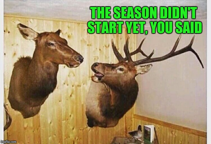 THE SEASON DIDN'T START YET, YOU SAID | made w/ Imgflip meme maker