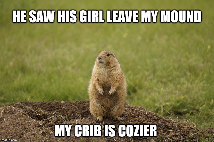 HE SAW HIS GIRL LEAVE MY MOUND MY CRIB IS COZIER | made w/ Imgflip meme maker