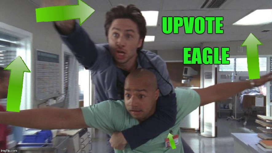 UPVOTE EAGLE | made w/ Imgflip meme maker
