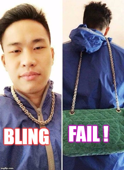 Bling fail | BLING FAIL ! | image tagged in bling fail,fail,bling,ha ha | made w/ Imgflip meme maker